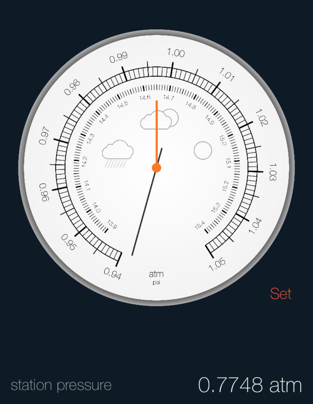 77.48% Atmospheric Pressure During Flight
