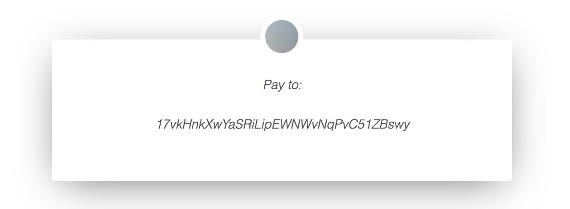 Bitcoin Payment Address 17vkHnkXwYaSRiLipEWNWvNqPvC51ZBswy